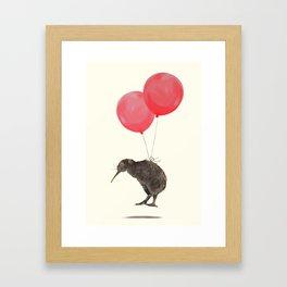 Kiwi Bird Can Fly Framed Art Print