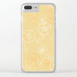 Golden sand dollar pattern Clear iPhone Case