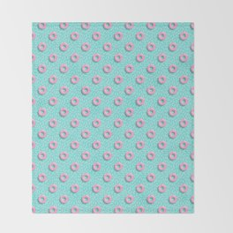 Memphis Polka Hoops Throw Blanket