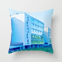 Apartment buildings with outdoor facilities Throw Pillow