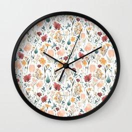 Deep Florals Wall Clock