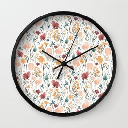 Deep Florals Wall Clock