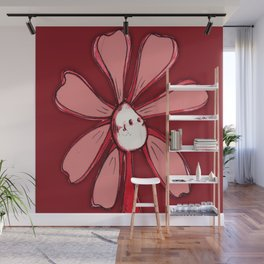 """""""Red"""" Color Chakra Flowerkid Wall Mural"""