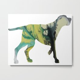 Redbone Coonhound Metal Print