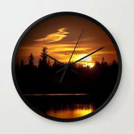 Northern Sunset 001 Wall Clock