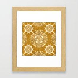 Vintage Mandala on Gold Framed Art Print