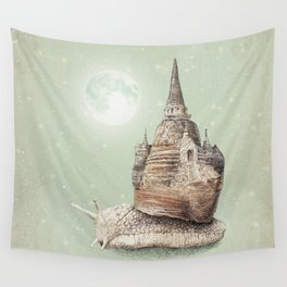 The Snail's Dream Wall Tapestry