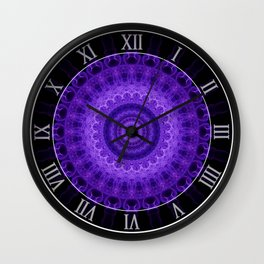 Mandala in violet and prurple tones Wall Clock