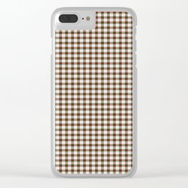 Stewart Tartan Clear iPhone Case