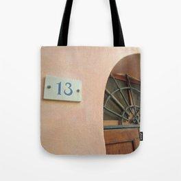 13 - Wrought Iron Door Tote Bag