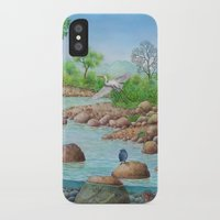 river iPhone & iPod Cases featuring  river  by Amy Fan