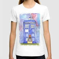 amy pond T-shirts featuring Come along, Pond by Kate Trozzi