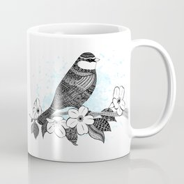Bird and cherry blossoms Coffee Mug