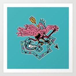 King pigeon Art Print