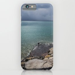 Stormy day at the beach iPhone Case
