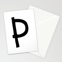 P Monogram (Hand 2) Stationery Cards