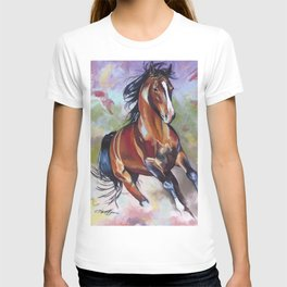 Contemporary Stallion Horse Painting T-shirt