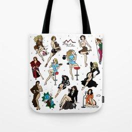 Ladies of Twin Peaks pattern Tote Bag