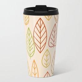 Geometric Leaves Empty Travel Mug