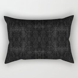Medieval Antique Silver Damask Rectangular Pillow