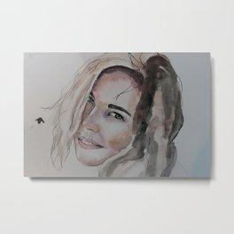 watercolor portrait Metal Print