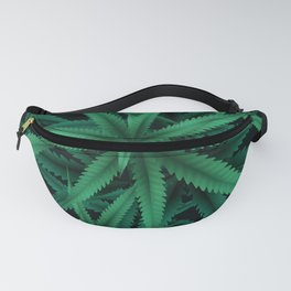 Group Of Pot Leaves Weed Lovers Floral Pattern Fanny Pack