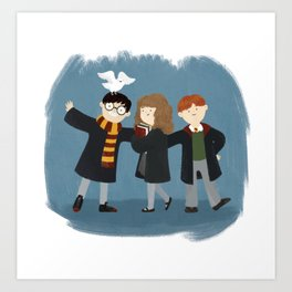 Friendship and magic Art Print