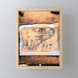 Ets On The Table Framed Mini Art Print
