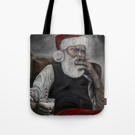 Mr. Claus: Naughty or... Tote Bag