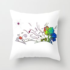 Sunny Scene Throw Pillow