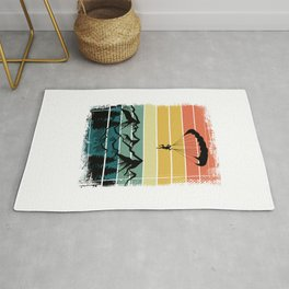 Paragliding Colorful Nature Mountains Rug