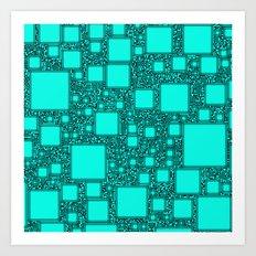 Electronics Blue Art Print