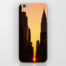 Manhattanhenge along 42nd Street NYC iPhone Skin