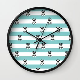 schnauzer stripes dog breed gifts Wall Clock