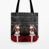 third eye Tote Bags featuring Third Eye by elle moss