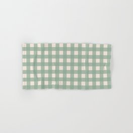 Buffalo Checks Plaid in Sage Green on Cream Hand & Bath Towel