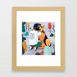 Todo lo que quiero Framed Art Print
