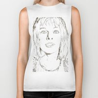 fifth element Biker Tanks featuring Leeloo Fifth Element sketch- Milla Jovovich  by Robin Stevens