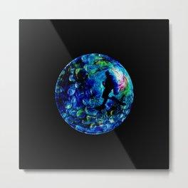 Marble Sea Metal Print