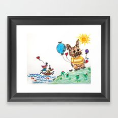 ::  Honey Rabbit on the Knoll :: Framed Art Print
