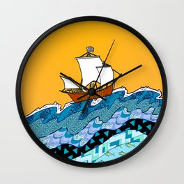 Sailing the High Seas Wall Clock