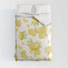 Summer Lemon Twist #1 #tropical #fruit #decor #art #society6 Comforters