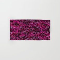 Hot Pink and Black Electric Lines Hand & Bath Towel