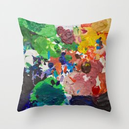 Palette of Colors Throw Pillow