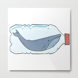 Save the whales Metal Print