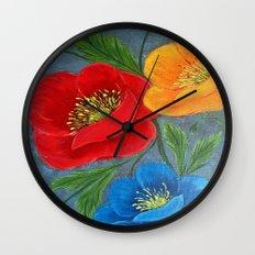 Poppies-3 Wall Clock