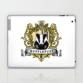 Hufflepuff Color Crest Laptop & iPad Skin
