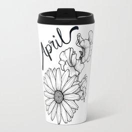 April Birth Flowers Travel Mug