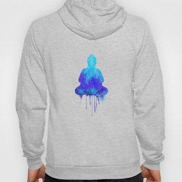 Watercolor zen Buddha blue Hoody