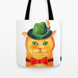 Ginger Cat In The Hat Tote Bag